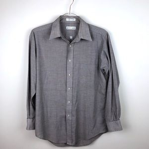 Pierre Cardin Vintage Grey Button Up 15 32/33